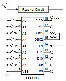 clock diagram four channel rf remote control using ht12d e gzalo com clock spring audi wiring diagram